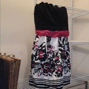 Strapless Garden Party Dress